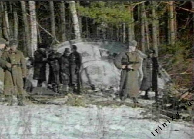 Konon, tahun 1968, UFO jatuh di sebuah hutan di wilayah kekuasaan   Uni Soviet. Mayat alien kabarnya sempat dikeluarkan dari pesawat dan   diotopsi. Sayangnya info tentang ini sangat rahasia/sumber   foto:http://www.zamandayolculuk.com/cetinbal/russiaufocrash.htm