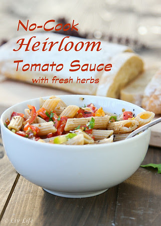 No-Cook Heirloom Tomato Sauce