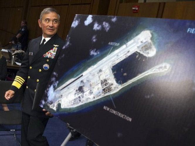 Hình ảnh Trung Quốc tăng gấp 4 lần số đường băng trên đảo nhân tạo ở Biển Đông số 1