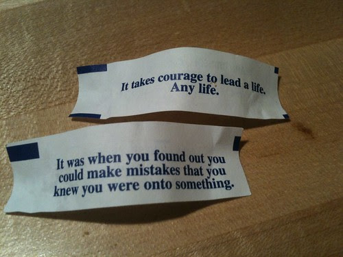 I skipped dinner and just ate the fortune cookies. LOL at the solace!