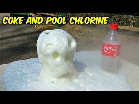 Enroque de ciencia cloro para piscina y coca cola for Piscina de coca