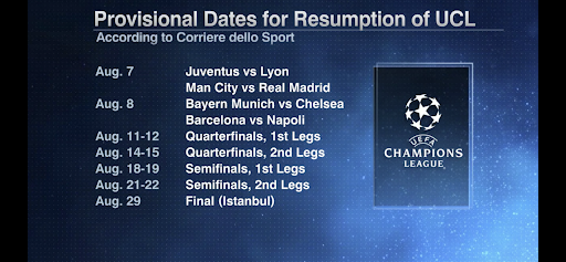 2021 Champions League Fixtures 2020 21