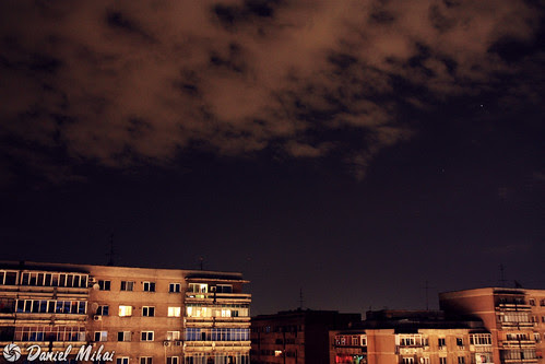 Night sky in Bucharest