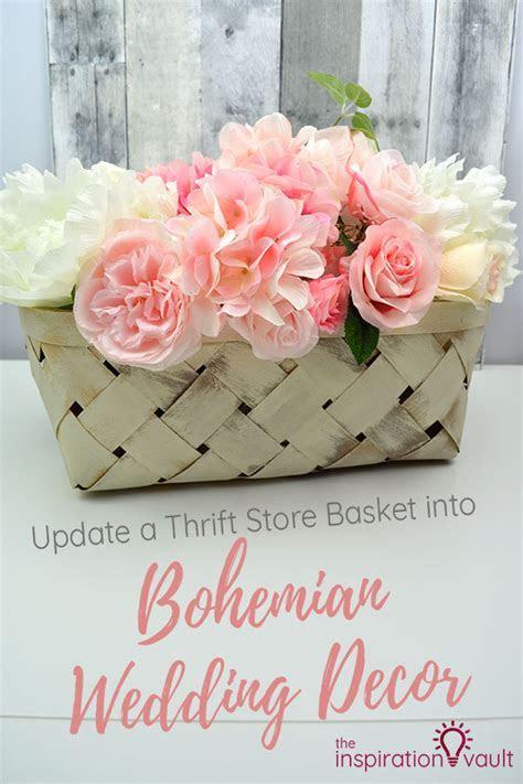 Update a Thrift Store Basket into Bohemian Wedding Decor