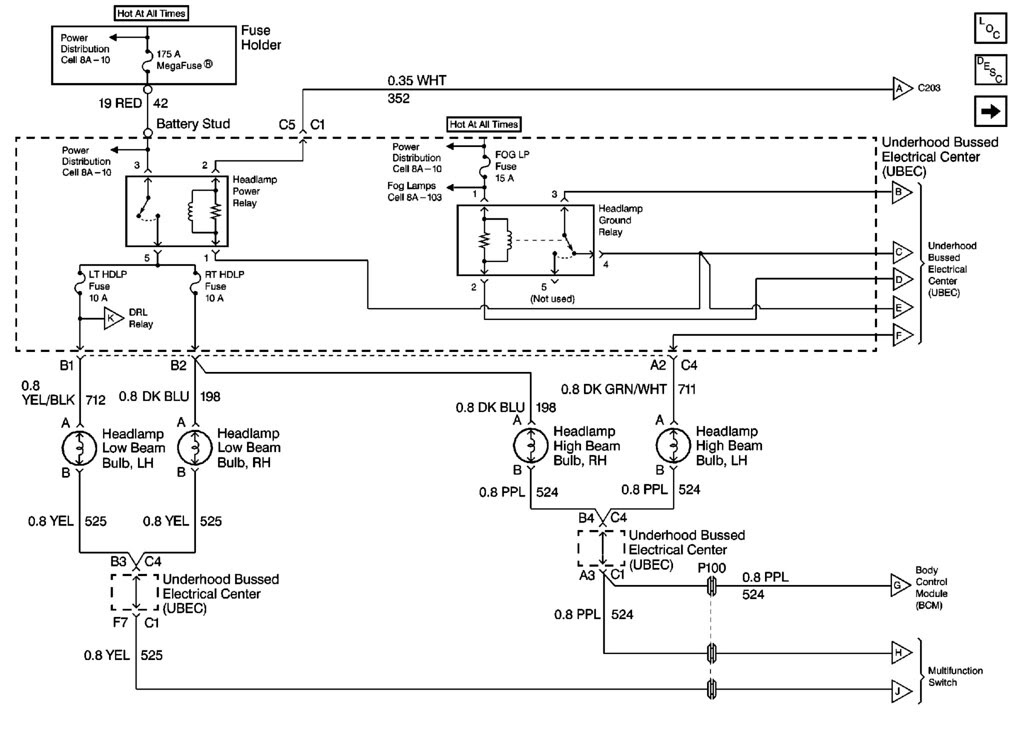 Headlight Wiring Diagram 98+ - S-10 Forum