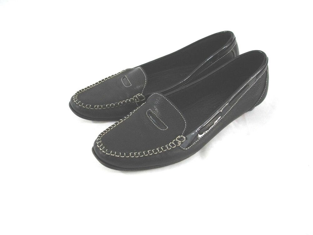 Women's Cole Haan Black Leather Penny Loafers Moccasins ...