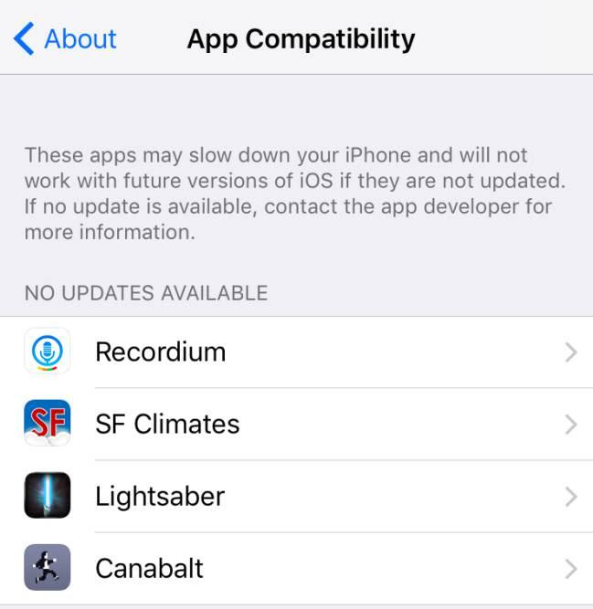 La nueva función que muestra si la compatibilidad de las apps con las nuevas versiones de iOS
