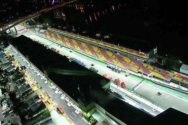 F1 Race tracks in the run up to the event