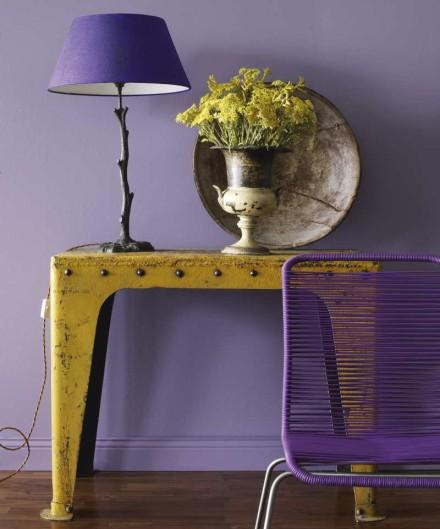 marfair: Skonahem - I love this combination of purple and yellow, rustic and modern.