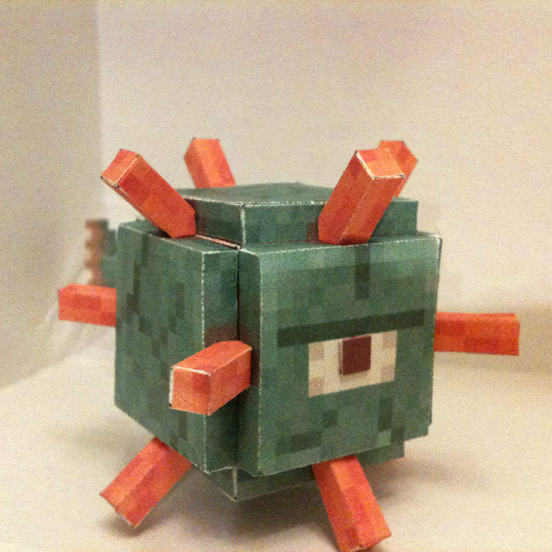 Minecraft Guardian Papercraft