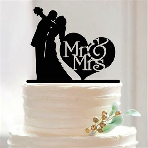 MR & Mrs Acrylic Cake Topper Custom wedding cake topper