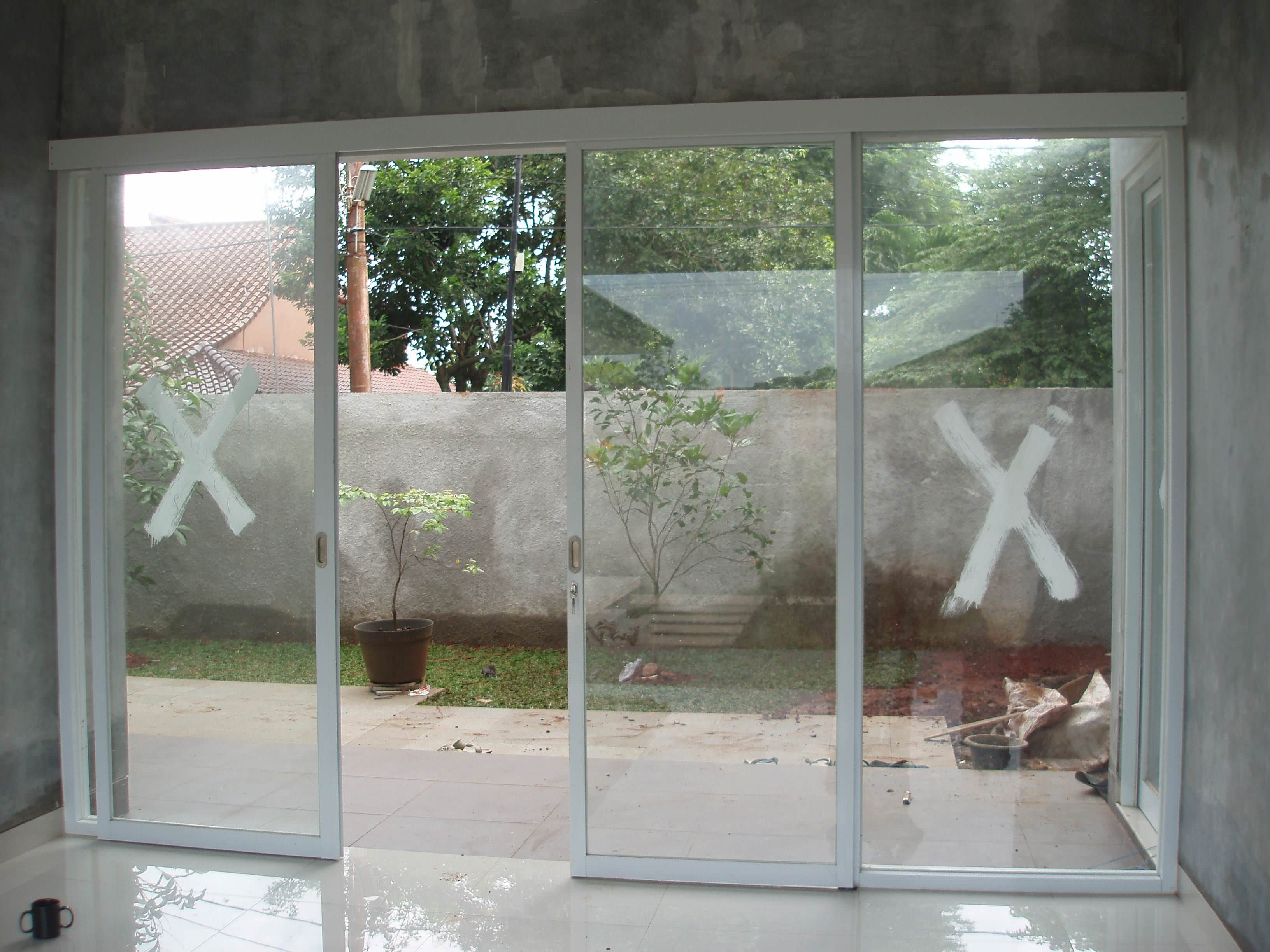 pintu geser minimalis modern pintu geser frameless
