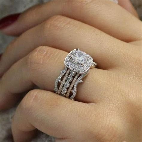 18K Rose and White Gold Stacked Vintage 5 Band Style