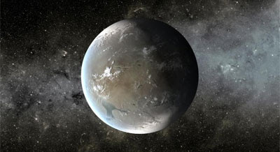 Artist's concept of Kepler-62f. (Credit: NASA Ames/JPL-Caltech)