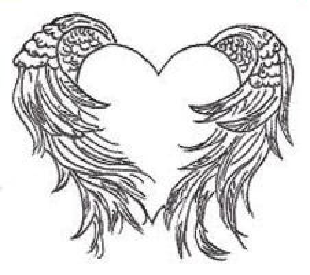 Heart And Wings Tattoo Design