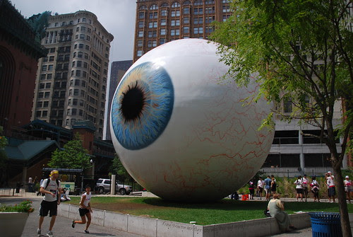 Eye and Cardinal at Pritzker Park by Michael Kappel, on Flickr