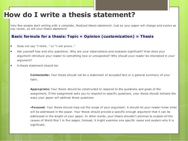 Analytical essay thesis example