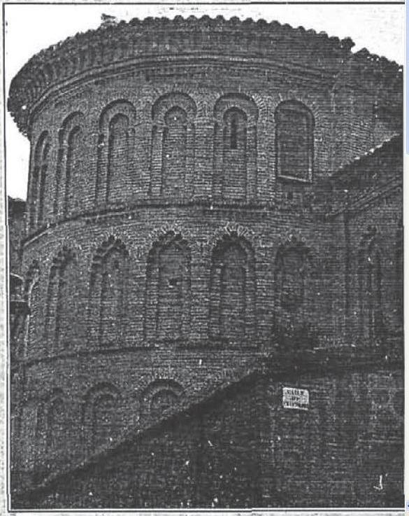 Ábside mudéjar de San Bartolomé en 1904. La Ilustración Española y Americana