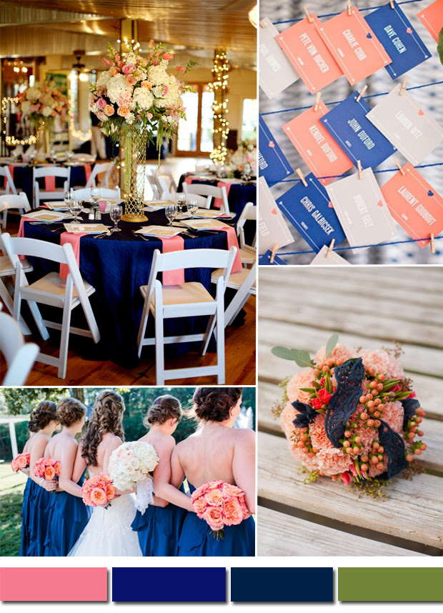 Royal Blue And Pink Wedding Colors Tulle Chantilly Wedding Blog