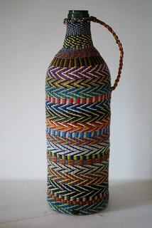 vintage bottle x-mas gift by pippa