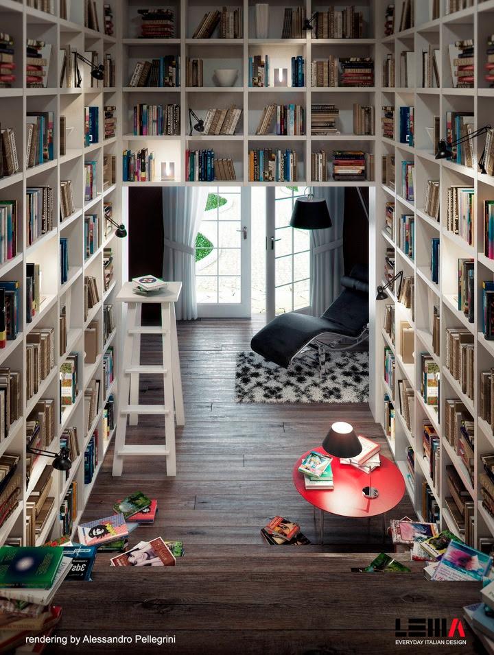 13 Space Saving Home Library Design Interior Design Ideas