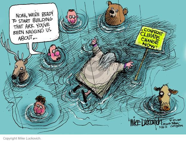 Image result for noah's ark climate change cartoons