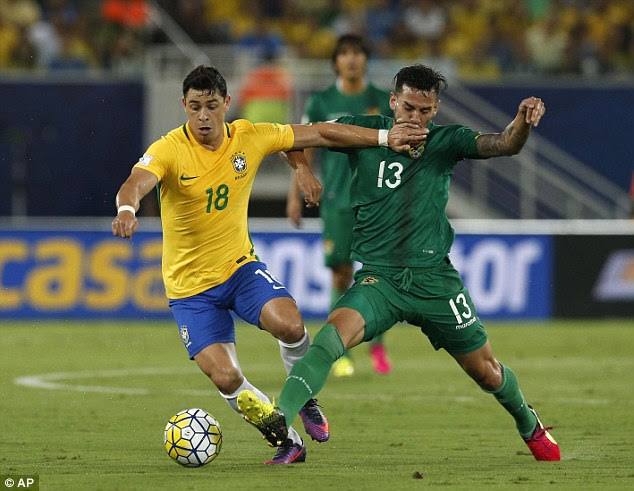 Giuliano was handed a rare start in midfield as Brazil showed the depth of their squad