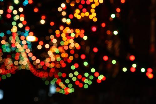 Street lightning christmas decorations Bokeh 7