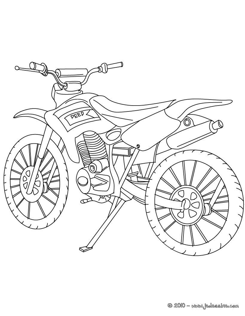 10  Coloriage En Ligne De Moto Cross
