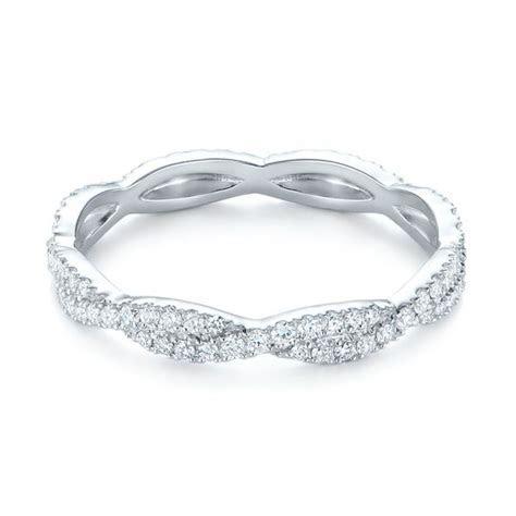 Custom Criss Cross Diamond Wedding Band #104743   Seattle