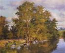 Golden Evening, oil on canvas 20 x 24