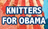 Knitters for Obama button