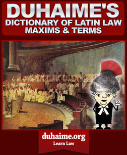 Dictionary Of Latin Law Terms
