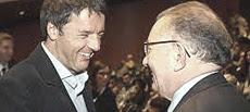 Renzi con Giorgio Squinzi