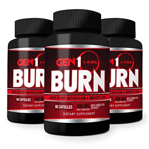 GEN1Labs Burn Weight Loss Pills, 60 Capsules Health Beauty ...