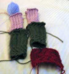 Christmas knitting, 2006
