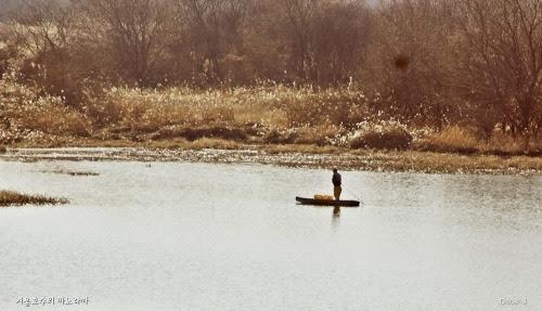 호수가에 노을이 내린다. 노을이 갈대꽃에 하얗게 눈처럼 쌓인다. 호숫가의 작은 물살도 눈처럼 빛난다.  석양의 어부는 쪽배를 타고, 마지막 어구를 챙긴다. 눈부시게 아름다운 호숫가의 풍경이 목가를 부른다.