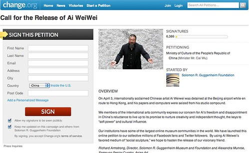 Call for the Release of Ai WeiWei