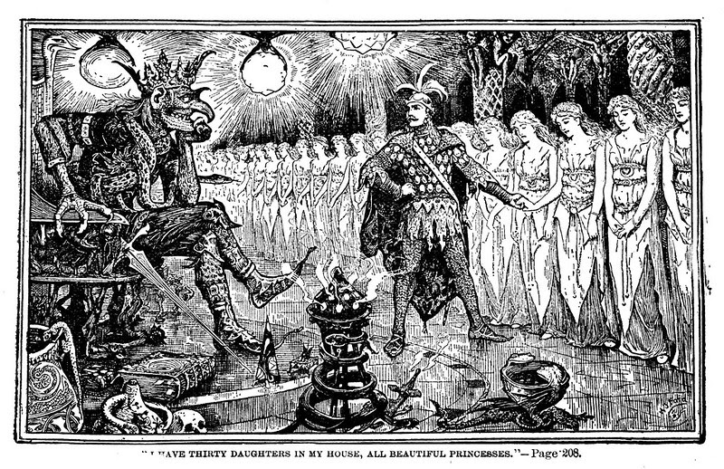 Henry Justice Ford - The green fairy book, edited by Andrew Lang, 1900 (illustration 7)
