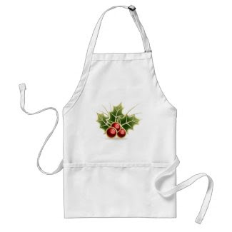 Shining Holly Berry Apron