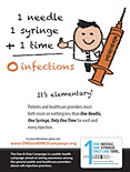 1 Needle + 1 Syringe + 1 Time = 0 Infections; It's Elementary