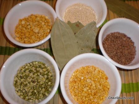 lentils for panchmel dal