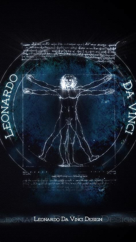 Design vitruvian man leonardo da vinci wallpaper   (129629)
