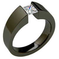 Black Titanium Wedding Ring - absolutetitanium.com
