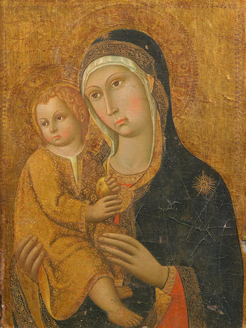 Manner of Sano di Pietro, 19th Century The Madonna and Child