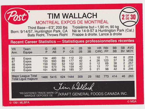 Exp - Tim Wallach - Back