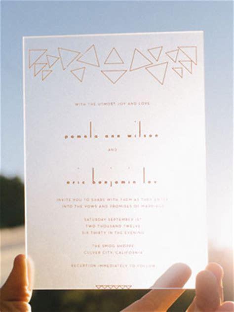 Wedding Stationery Inspiration: Geometric Shapes