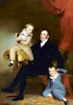 William Johnston Of Lathrick With His Two Sons