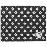 Monogram Black & White Mayan Pattern iPad Cover