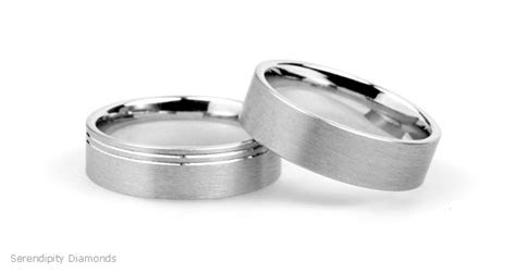 Mens Wedding Band Brushed Finish
